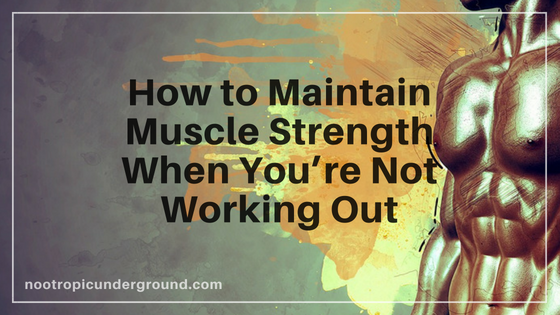 How to Maintain Muscle Strength When You're Not Working Out